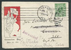 G.B Royalty - First Day Cover 1911 P.S. Coronation Day advertising leaflet bearing King George V ...