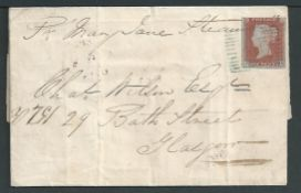 G.B. - Scotland - Islands 1848 Entire letter (file folds, reverse with tape repairs to tears) form