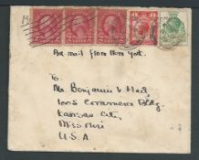 G.B. - Airmails 1929 Cover (minor soiling) from London to Kansas City franked by UPU Congress 1d, 1