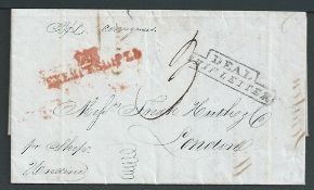 """Great Britain - Ship Letters 1840 1840 Entire letter from New Orleans to London endorsed """"pr Ship U"""
