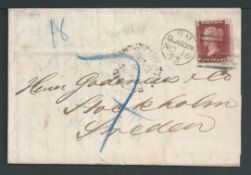 G.B. - Postage Dues 1873 Printed circular franked at the 1d printed matter rate from Glasgow to Swe