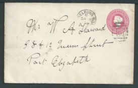 Cape of Good Hope 1894 Queen Victoria 1d postal stationery envelope from Middleburg Road to Port Eli