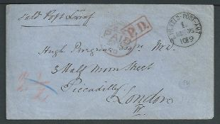 Germany - Franco - Prussian War 1870 Stampless soldiers covers with Prussian Field Post datestamps