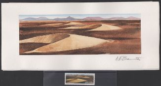 SOUTH WEST AFRICA /NAMIBIA 1989. Namib sand dunes set: final full colour artwork for the 18c Barchan