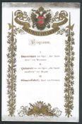 GERMAN PRUSSIAN CONCERT PROGRAMME KRONPRINZ SACHSEN DOUBLE HEADED EAGLE Fine printed programme s