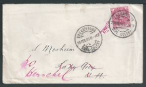 Boer War 1900 (Feb 28) Cover (minor staining) from Cape Town to Lady Grey, the occupied by the Boer