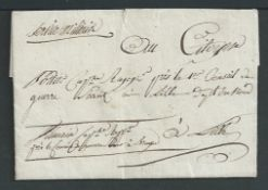 G.B. - Military / France 1799 Entire letter (a few faults) to Lille, written by Captain Villain on p