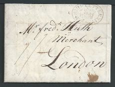 Great Britain / Ship Letters / Ramsgate 1814 Entire Letter from La Guayra to London with fine singl