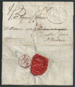 G.B. - Channel Islands / Ship Letters - Guernsey 1804 Entire letter (upper flap removed and rejoined