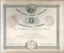 G.B. - Jubilee of Penny Post 1890 Unused Specimen of the Invitation to the Penny Post Jubilee Ce...