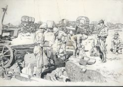 Boer War 1900 The Spoils of War: a pen & ink sketch by Herbert Johnson (1848-1906) for the Graphi...