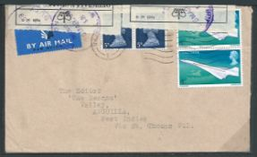 Anguilla 1969 (Mar 20) Air Mail cover from G.B. to Anguilla