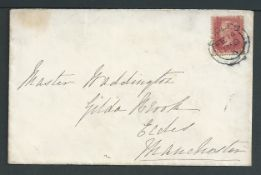 G.B. - Line Engraved Cancellations / Lancashire / Valentines 1859 (Feb 14) Cover sent locally withi