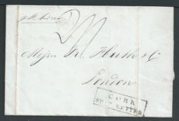 """G.B. - Ireland - Ship Letters - Cork 1837 Entire from Havana to London """"Per St Andrew"""" handstamped"""