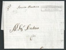 "France / Italy 1809 Printed Circular from Treviso to Ariano with manuscript ""Service Marittimo"" and"
