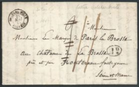 Algeria 1845 Interesting entire letter from Orleansville to Fonterau. The letter has printed headin