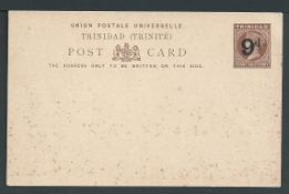 Trinidad 1891 1.1/2d Postcard surcharged 9d for presentation to the Duke of York on his visit to the