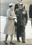 Royalty Hm Queen Elizabeth / King Hussein Of Jordan Royal Visit 1984 Visit To Jordan April 1984 - T