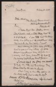 "Royalty Rhodesia - King Lobengula O.H.M.S Cover Signed ""J.S Moffat, A.C"" And Addressed ""To His ..."