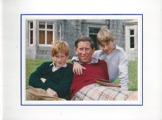 Fine Christmas Card Prince Charles With Prince William & Prince Harry 1993 Fine And Rare Christmas