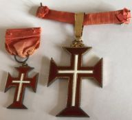 Portugal Military Order Of Christ Grand Cross Badges C1950