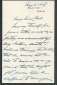 Royalty Important King Haakon Vii Of Norway Letter 1947 Wwii Slottet Mourning Letter From King Ha