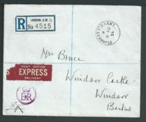 Royalty 1954 (Aug 4) Registered Express Cover With Enclosed Letter From Queen Elizabeth The Q