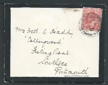 Royalty Royalty Yacht Edward 7Th Cowes Regatta 1907 Isle Of Wight Cover And Letter On Note Paper