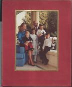 Royalty Royalty Jordan King Hussein Queen Muna 1971 New Year Card New Year Card 1971 Signed By King