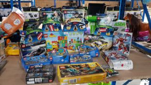 16 Items Ð Mixed Lego To Include Duplo, Dimensions, Speed, Star Wars, City & Avengers