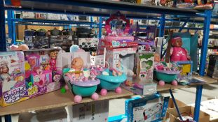 Contents Of Shelf Ð Mixed Toys To Inc Zuru Sparkel Girlz Bake Off, My Sweet Baby Bath, Paint ...