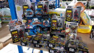 Approx 19 Items Ð To Include Mixed Batman Dolls, Marvel Battle World, Bakugan Doll & Battle ...