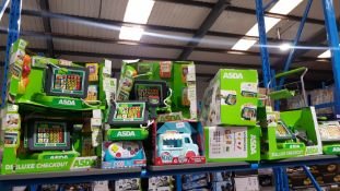 Contents Of Shelf Ð Approx 9 X Asda Deluxe Checkout, 1 x Little Tykes 1st Learning Controller...