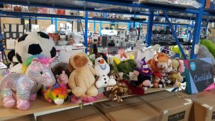 A Quantity Of Mixed Soft Toys To Include Frozen, Disney & Pokemon