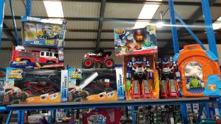 Contents Of Shelf Ð Approx 10 Items to Include 2 X Hot wheels Monster Truck, 3 X Adventure Fo...