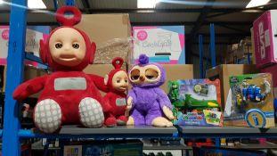 5 Items Ð To Include Teletubbie Dolls, Zuru Sloth Doll, 1 X PJ Masks Gekko Mobile & 1 X Juras...