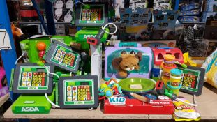 Approx 20 Items Ð To Include Asda Deluxe Checkout, Kid Connection Cooking Playset & Playdoh