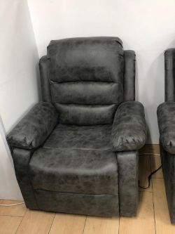 Brand new boxed Cartier grey fabric electric reclining arm chair