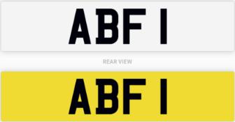 ABF 1 number plate / car registration