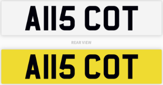 A115 COT number plate / car registration