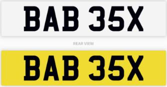 BAB 35X number plate / car registration