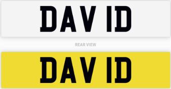 DAV 1D number plate / car registration