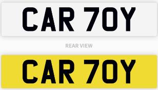 CAR 70Y number plate / car registration