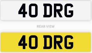 40 DRG number plate / car registration