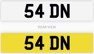 54 DN number plate / car registration