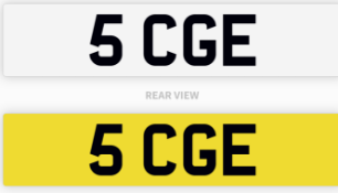 5 CGE number plate / car registration