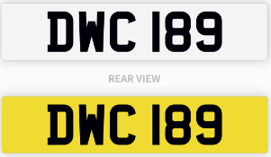 DWC 189 number plate / car registration