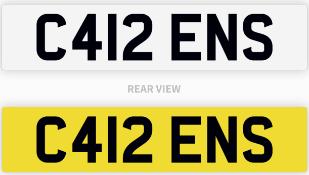 C412 ENS number plate / car registration