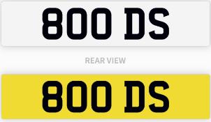 800 DS number plate / car registration