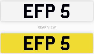 EFP 5 number plate / car registration
